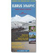 Wanderkarten Climbing and Trekking Map Elbrus 1:50.000 Climbing-Map Team
