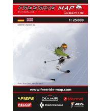 Skitourenkarten Freeride Map Disentis 1:25.000 outkomm gmbh