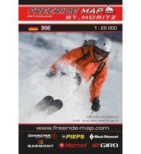 Skitourenkarten Freeride Map St. Moritz 1:25.000 outkomm gmbh