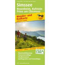 f&b Wanderkarten Simssee, Rosenheim, Kufstein, Prien am Chiemsee Freytag-Berndt und ARTARIA