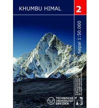 Wanderkarten Himalaya Schneider Trekking Map 2, Khumbu Himal 1:50.000 Arbeitsgemeinschaft für vergleichende Hochgebirgsforschung e.V.