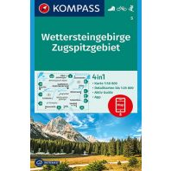 Wanderkarten Tirol Kompass-Karte 5, Wettersteingebirge, Zugspitzgebiet 1:50.000 Kompass-Karten GmbH