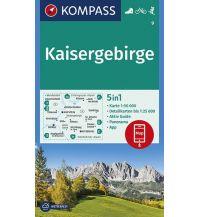Wanderkarten Tirol Kompass-Karte 9, Kaisergebirge 1:50.000 Kompass-Karten GmbH