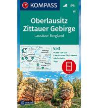 Wanderkarten Deutschland Kompass-Karte 811, Oberlausitz, Zittauer Gebirge 1:50.000 Kompass-Karten GmbH