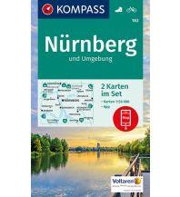 Wanderkarten Deutschland Kompass-Karte 163, Nürnberg und Umgebung 1:50.000 Kompass-Karten GmbH