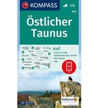 Wanderkarten Deutschland Kompass-Karte 840, Östlicher Taunus 1:50.000 Kompass-Karten GmbH