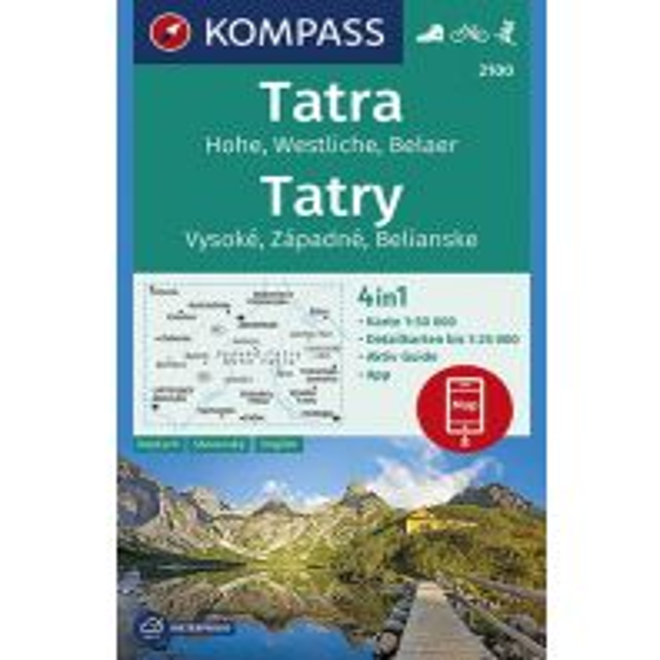 Wanderkarten Slowakei Kompass-Karte 2100, Hohe, Westliche und Belaer Tatra 1:50.000 Kompass-Karten GmbH