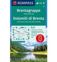 Wanderkarten Italien Kompass-Karte 73, Brentagruppe/Dolomiti di Brenta 1:50.000 Kompass-Karten GmbH