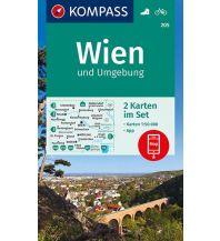 Wanderkarten Wien Kompass-Kartenset 205, Wien und Umgebung 1:50.000 Kompass-Karten GmbH