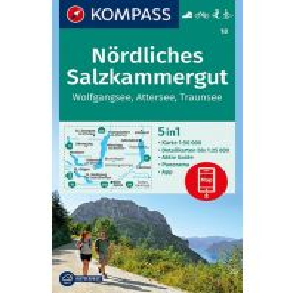 Wanderkarten Steiermark Kompass-Karte 18, Nördliches Salzkammergut 1:50.000 Kompass-Karten GmbH