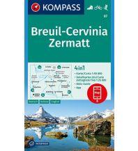 Wanderkarten Schweiz & FL Kompass-Karte 87, Breuil-Cervinia, Zermatt 1:50.000 Kompass-Karten GmbH