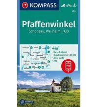 Wanderkarten Bayern Kompass-Karte 179, Pfaffenwinkel, Schongau, Weilheim i. OB 1:50.000 Kompass-Karten GmbH