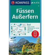 Wanderkarten Tirol Kompass-Karte 4, Füssen, Außerfern 1:50.000 Kompass-Karten GmbH