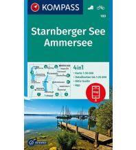 Wanderkarten Bayern Kompass-Karte 180, Starnberger See, Ammersee 1:50.000 Kompass-Karten GmbH