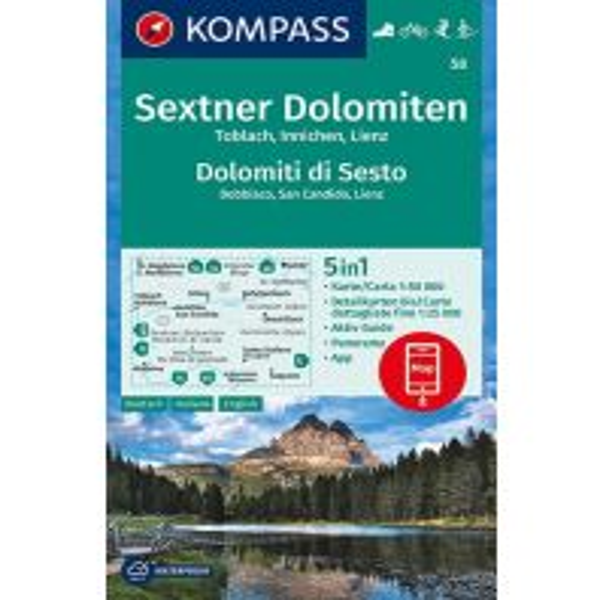 Wanderkarten Tirol Kompass-Karte 58, Sextner Dolomiten/Dolomiti di Sesto 1:50.000 Kompass-Karten GmbH