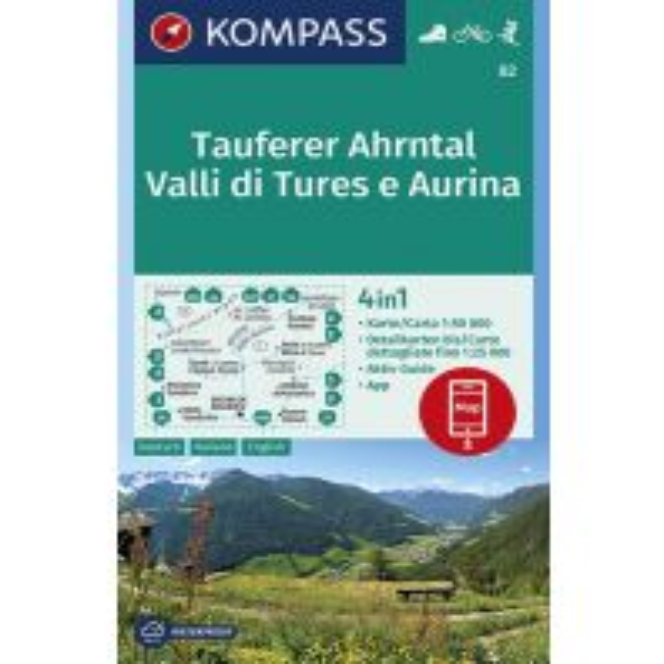 Wanderkarten Tirol Kompass-Karte 82, Tauferer Ahrntal/Valli di Tures e Aurina 1:50.000 Kompass-Karten GmbH