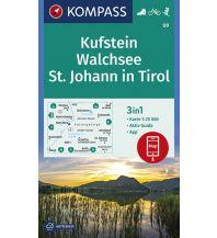 Wanderkarten Tirol Kompass-Karte 09, Kufstein, Walchsee, St. Johann in Tirol 1:25.000 Kompass-Karten GmbH