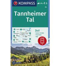 Wanderkarten Tirol Kompass-Karte 04, Tannheimer Tal 1:35.000 Kompass-Karten GmbH