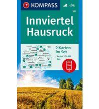 Wanderkarten Salzburg Kompass-Kartenset 201, Innviertel, Hausruck 1:50.000 Kompass-Karten GmbH