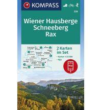 Wanderkarten Steiermark Kompass-Kartenset 228, Wiener Hausberge, Schneeberg, Rax 1:25.000 Kompass-Karten GmbH