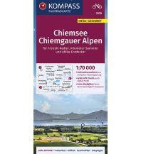 Radkarten Kompass-Fahrradkarte 3335, Chiemsee, Chiemgauer Alpen 1:70.000 Kompass-Karten GmbH