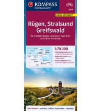 Radkarten Kompass-Fahrradkarte FK 3319, Rügen, Stralsund, Greifswald 1:70.000 Kompass-Karten GmbH