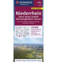 Radkarten KOMPASS Fahrradkarte Niederrhein, Kleve, Wesel, Krefeld, Mönchengladbach, Viersen 1:70.000, FK 3323 Kompass-Karten GmbH