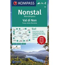 Wanderkarten Südtirol & Dolomiten Kompass-Karte 95, Nonstal/Val di Non 1:50.000 Kompass-Karten GmbH