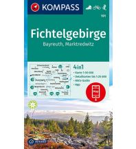 Wanderkarten Tschechien Kompass-Karte 191, Fichtelgebirge, Bayreuth, Marktredwitz 1:50.000 Kompass-Karten GmbH