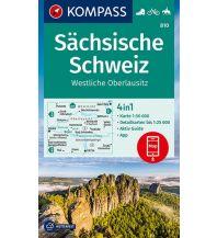 Wanderkarten Tschechien Kompass-Karte 810, Sächsische Schweiz, Westliche Oberlausitz 1:50.000 Kompass-Karten GmbH