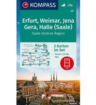 KOMPASS Wanderkarte Erfurt, Weimar, Jena, Gera, Halle (Saale) Kompass-Karten GmbH