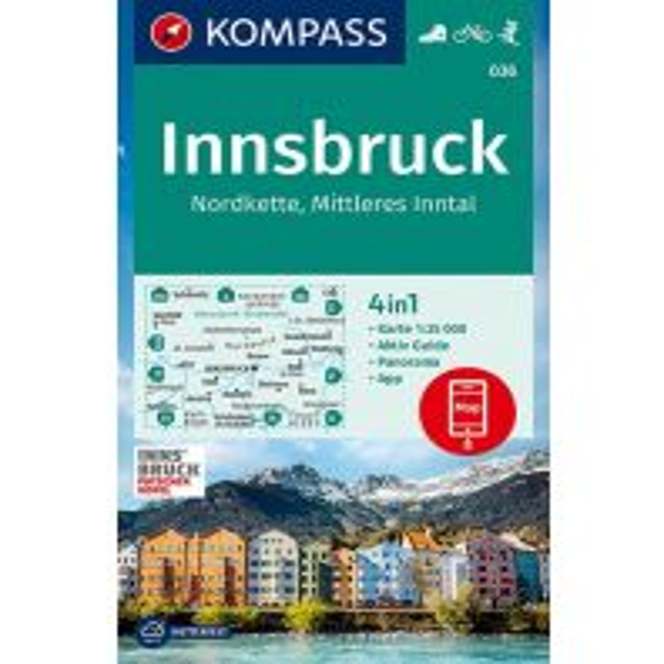 Kompass-Karte 036, Innsbruck, Nordkette, Mittleres Inntal 1:35.000 Kompass-Karten GmbH