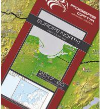 Flugkarten Flugplätze Europas Nord - VFR Luftfahrtkarte 2017-2020 Rogers Data