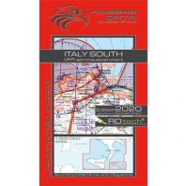 Flugkarten VFR Luftfahrtkarte 2020 - Italien Süd 1:500.000 Rogers Data