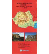 Wanderkarten Rumänien Bel Alpin Tourist Map Bucegi Mountains 1:50.000 Bel Alpin Tour