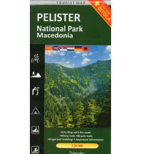 Wanderkarten Nordmazedonien Trimaks Tourist Map Pelister National Park 1:50.000 Trimaks