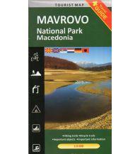 Wanderkarten Nordmazedonien Trimaks Tourist Map Mavrovo National Park 1:55.000 Trimaks