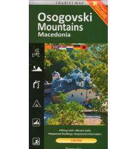 Wanderkarten Nordmazedonien Trimaks Tourist Map Makedonien - Osogovski Mountains 1:60.000 Trimaks