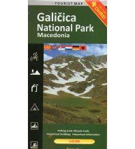 Wanderkarten Nordmazedonien Trimaks Tourist Map Galicica National Park (Nordmazedonien) 1:45.000 Trimaks