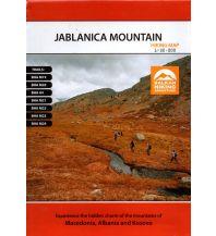 Wanderkarten Nordmazedonien MAIML Wanderkarte Jablanica Mountain 1:30.000 Macedonian Association of International Mountain Leaders