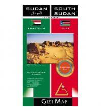 Straßenkarten Gizi Geographical Map - Sudan & South Sudan 1:2.500.000 Gizi Map