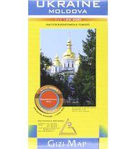 Straßenkarten Ukraine, Moldova, Geographical Map Gizi Map
