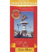 Straßenkarten Republic of Macedonia, Geographical Map Gizi Map