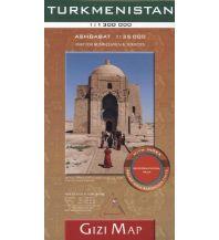 Straßenkarten Asien Gizi Map Turkmenistan, Geographical Map Gizi Map
