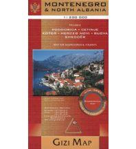 Straßenkarten Albanien Gizi Map Straßenkarte Montenegro & North Albania, Geographical Map Gizi Map
