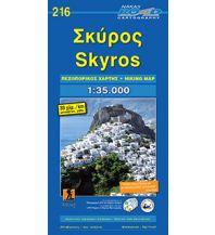 Inselkarten Ägäis Road Editions Hiking Map 216, Skýros 1:35.000 Road Editions