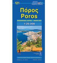 Wanderkarten Peloponnes Orama Wanderkarte 121, Póros 1:20.000 Road Editions