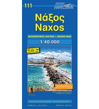 Inselkarten Ägäis Road Editions Hiking Map 111, Náxos 1:40.000 Orama Editions