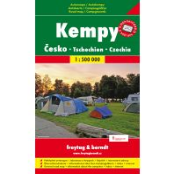 f&b Autokarte Tschechien - Camping & Caravaning 1:500.000 freytag & berndt Praha