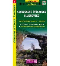 Wanderkarten Tschechien SHOcart Wanderkarte 1, Českosaské Švýcarsko/Böhmische Schweiz, Šluknovsko/Schluckenau 1:50.000 Shocart